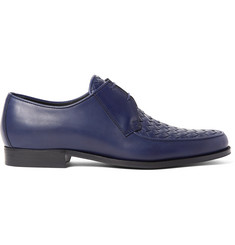 Bottega Veneta Intrecciato-Panelled Leather Derby Shoes