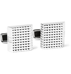 Dunhill Knurled Rhodium-Plated Cufflinks