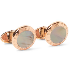 Dunhill Rose Gold-Plated Mother-of-Pearl Cufflinks