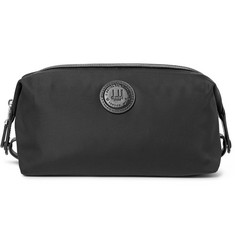 Dunhill Guardsman Leather-Trimmed Canvas Wash Bag