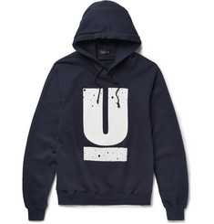 Undercover Printed Loopback Cotton-Jersey Hoodie