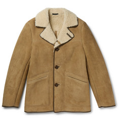 TOM FORD Leather-Trimmed Shearling Coat