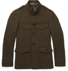 TOM FORD Slim-Fit Wool-Felt Field Jacket
