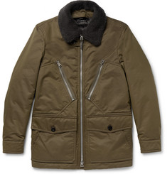 TOM FORD Shearling-Trimmed Water-Resistant Cotton-Blend Parka