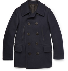 TOM FORD Slim-Fit Wool-Blend Peacoat