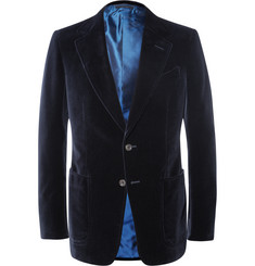 Tom Ford Blue Shelton Slim-Fit Cotton-Velvet Tuxedo Jacket