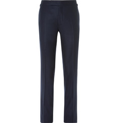 TOM FORD Blue Wool-Flannel Trousers
