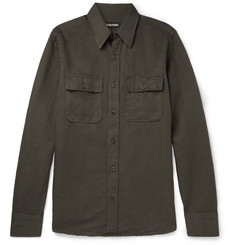 TOM FORD Slim-Fit Linen and Cotton-Blend Shirt