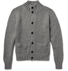 TOM FORD Mélange Knitted Cardigan