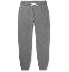 TOM FORD Slim-Fit Tapered Mélange Cashmere and Cotton-Blend Sweatpants