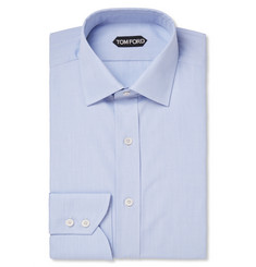 Tom Ford Blue Slim-Fit Cotton Shirt