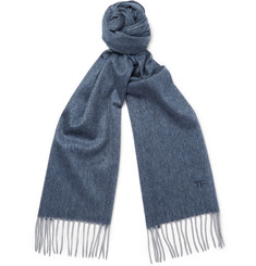 TOM FORD - Herringbone Cashmere Scarf