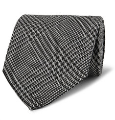 TOM FORD 8.5cm Prince of Wales Checked Silk Tie