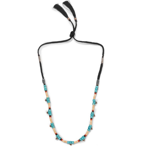 gucci male gucci beaded necklace turquoise