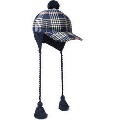 Gucci Tasselled Checked Cotton Cap