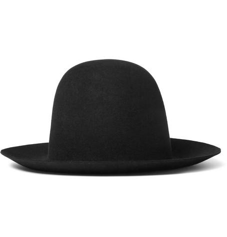 gucci male 188971 gucci widebrimmed rabbitfelt hat black
