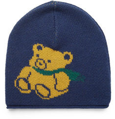 Gucci Teddy Bear-Intarsia Wool Beanie