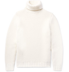 Tod's Textured Wool and Cashmere-Blend Rollneck Sweater