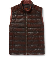 Tod's Quilted Waxed-Leather Gilet