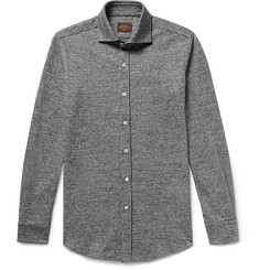 Tod's Slim-Fit Puppytooth Virgin Wool and Cotton-Blend Shirt
