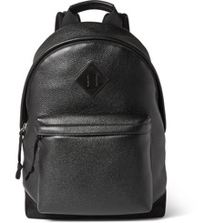 Tom Ford Suede-Trimmed Full-Grain Leather Backpack