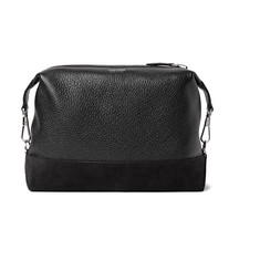TOM FORD Suede-Panelled Full-Grain Leather Wash Bag