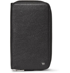 TOM FORD - Zip-Around Full-Grain Leather Travel Wallet