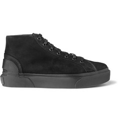 Lanvin Distressed Suede High-Top Sneakers