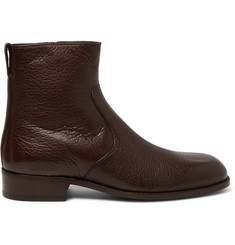 TOM FORD Wilson Full-Grain Leather Boots