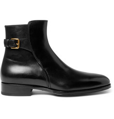 TOM FORD Austin Polished-Leather Jodhpur Boots