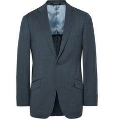 Richard James Blue Slim-Fit Pin-Dot Super 110s Wool Suit Jacket