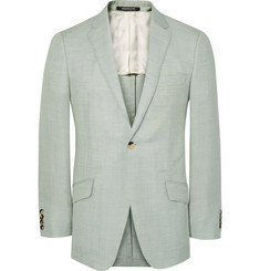 Richard James Green Seishin Slim-Fit Wool, Linen and Mohair-Blend Suit Jacket