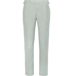 Richard James - Green Slim-Fit Wool, Linen and Mohair-Blend Suit Trousers