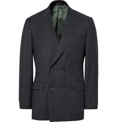 Richard James Blue Seishin Slim-Fit Double-Breasted Prince of Wales Checked Super 130s Wool Suit Jacket