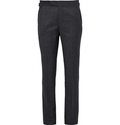 Richard James - Blue Slim-Fit Checked Super 130s Wool Suit Trousers