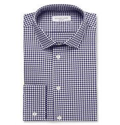 Richard James - Slim-Fit Houndstooth Cotton Shirt
