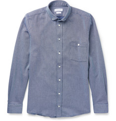 Richard James Button-Down Collar Woven Cotton Shirt
