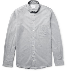 Richard James Slim-Fit Button-Down Collar Cotton-Chambray Shirt
