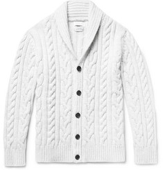 Richard James Cable-Knit Wool Cardigan