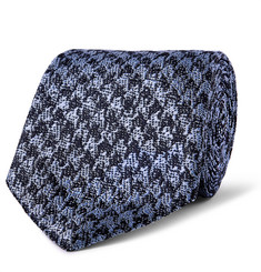 Richard James 7cm Houndstooth Silk Tie