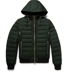 Balmain Hooded Quilted Cotton Down Jacket