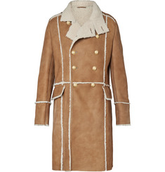 Balmain - Double-Breasted Shearling Coat
