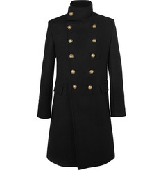 Balmain Slim-Fit Double-Breasted Cashmere Overcoat
