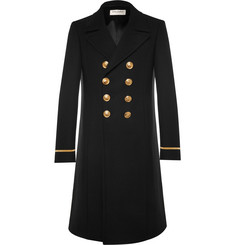 Saint Laurent Slim-Fit Double-Breasted Wool-Blend Coat