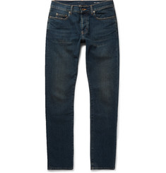 Saint Laurent Slim-Fit 17cm Hem Distressed Stretch-Denim Jeans