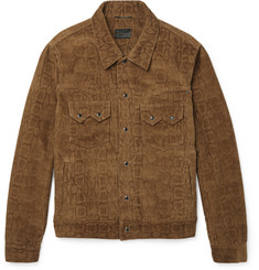 Saint Laurent - Snake-Print Corduroy Jacket