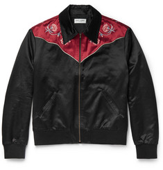 Saint Laurent Slim-Fit Embroidered Cotton-Blend Blouson Jacket