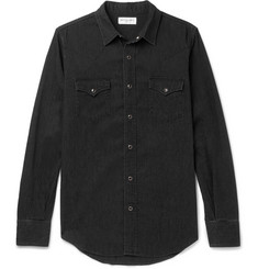 Saint Laurent Slim-Fit Washed-Denim Shirt