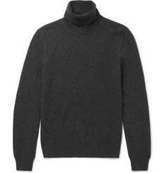 Saint Laurent - Distressed Wool and Cashmere-Blend Rollneck Sweater