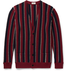 Saint Laurent Striped Wool-Blend Cardigan